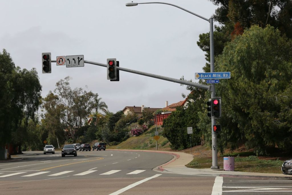 Rancho Peñasquitos Black Mountain Road Stop Light 92129