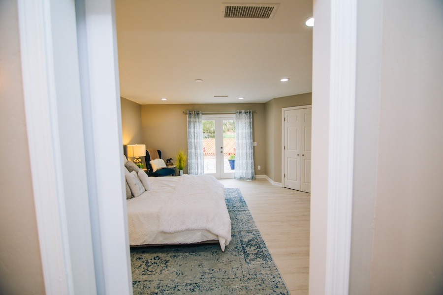 Ezra Lane Master Bedroom French Doors